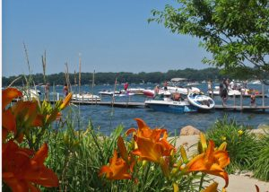 Day Lilies and Docks - Arnolds Park