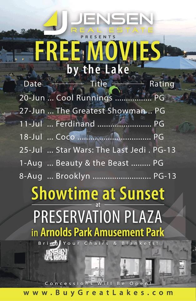 Brooklyn – Free Movie in the Park – Iowa Great Lakes Association